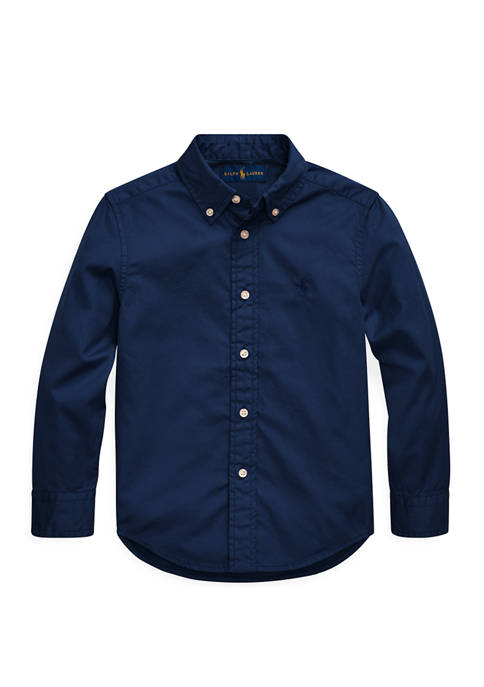 Ralph Lauren Childrenswear Toddler Boys Cotton Twill Shirt