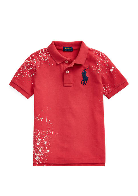 Ralph Lauren Childrenswear Toddler Boys Distressed Cotton Mesh