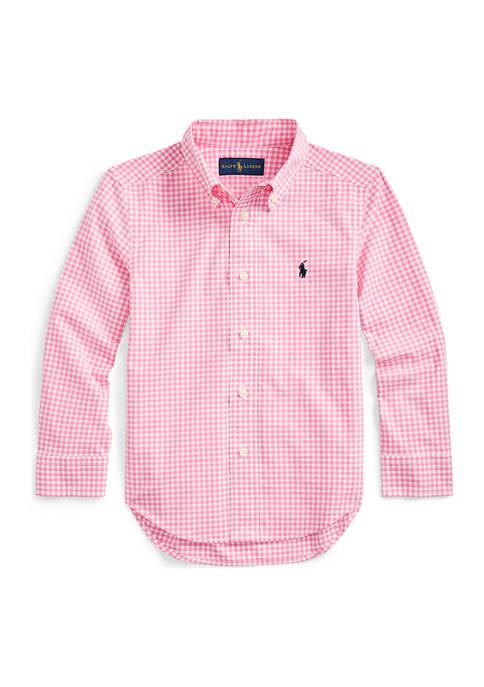 Ralph Lauren Childrenswear Toddler Boys Gingham Cotton Poplin