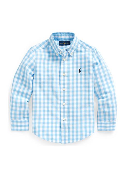 Ralph Lauren Childrenswear Toddler Boys Gingham Cotton-Blend
