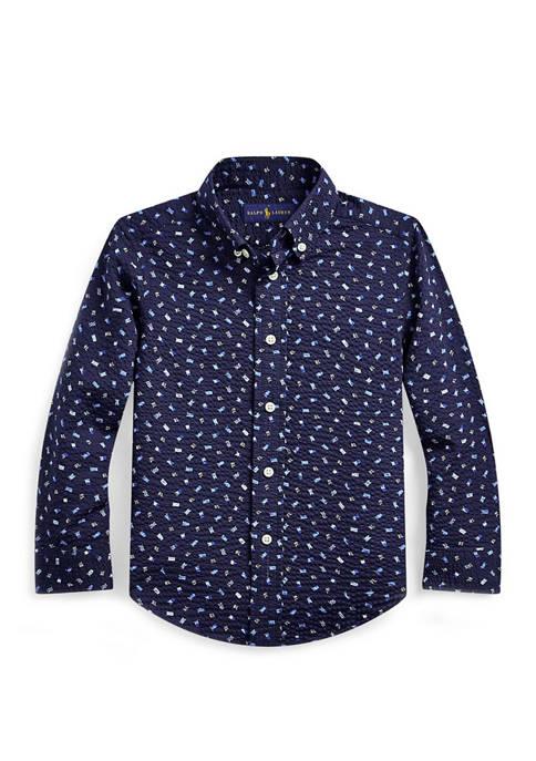 Toddler Boys Nautical Seersucker Shirt