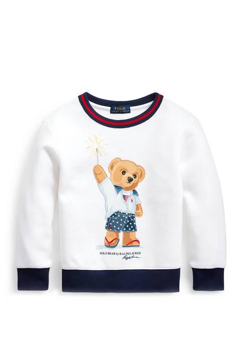 Ralph Lauren Childrenswear Toddler Boys Sparkler Bear Sweatshirt