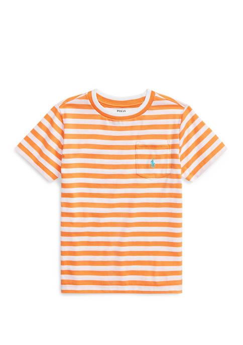 Toddler Boys Striped Cotton Blend Tee