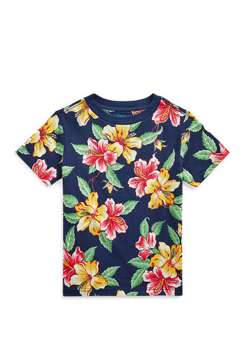Ralph Lauren Childrenswear Toddler Boys Floral-Print Cotton