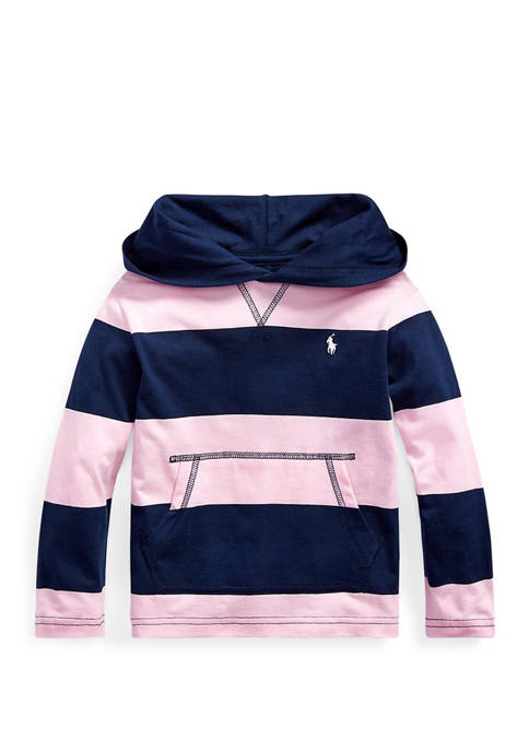 Toddler Boys Striped Cotton Jersey Hooded Tee
