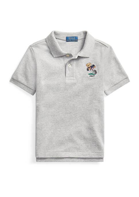 Ralph Lauren Childrenswear Toddler Boys Football Bear Cotton