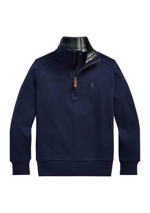 Toddler Boys Cotton Interlock Quarter-Zip Pullover