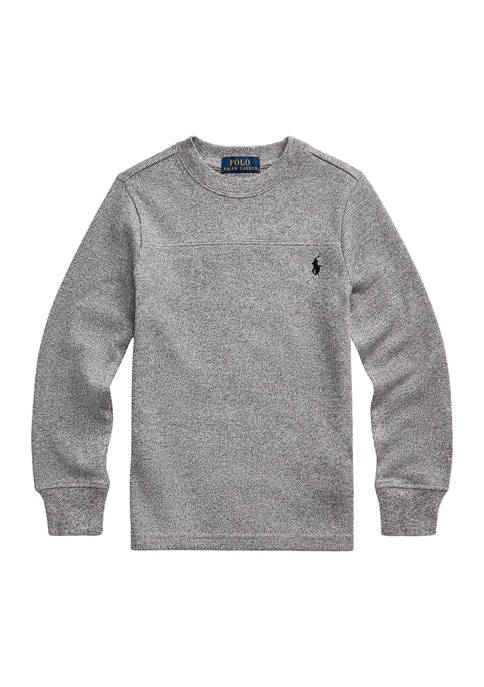 Toddler Boys Waffle-Knit Cotton Long-Sleeve Tee