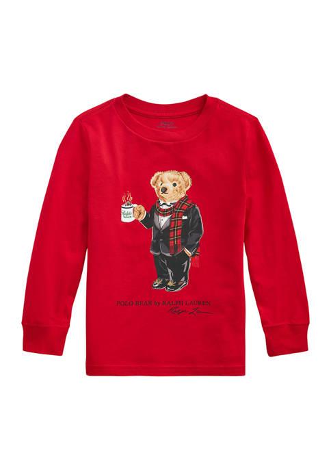 Toddler Boys Moto Bear Cotton Jersey Tee