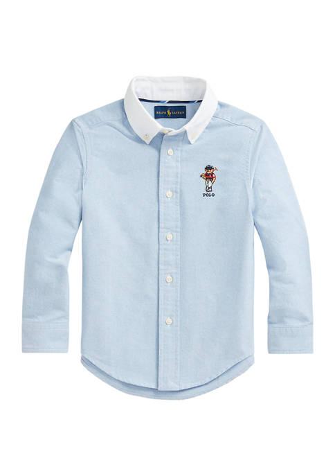 Ralph Lauren Childrenswear Toddler Boys Polo Bear Cotton