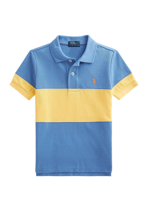 Ralph Lauren Childrenswear Toddler Boys Color-Blocked Cotton Mesh