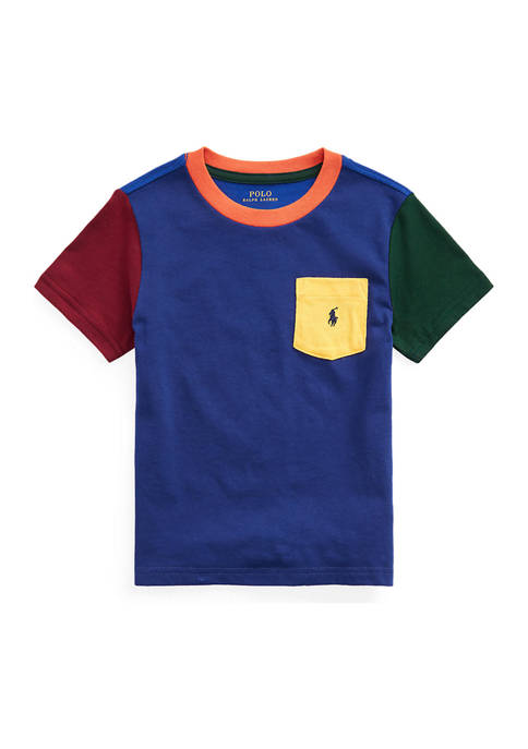 Ralph Lauren Childrenswear Toddler Boys Color-Blocked Cotton