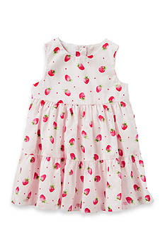 OshKosh B'gosh® 2-Piece Tiered Ruffle Strawberry Print Dress
