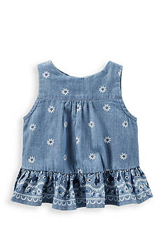 OshKosh B'gosh® Bandana Print Chambray Tulip-Back Top