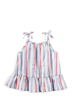 OshKosh B'gosh® Striped Chambray Ruffle Hem Top