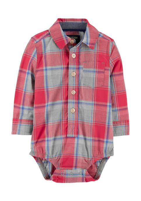 Baby Boys Button Front Bodysuit