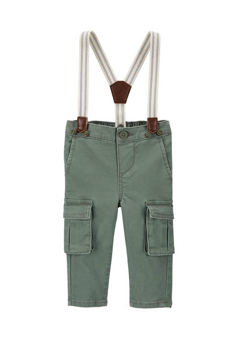Baby Boys Suspender Cargo Pants