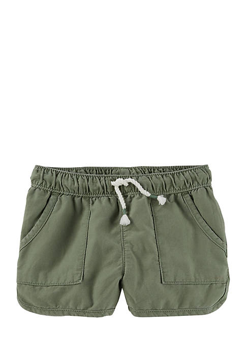 OshKosh B'gosh® Pull-On Drapey Twill Shorts Toddler Girls
