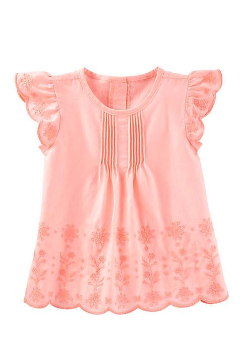Wholesale OshKosh B'gosh Toddler Girls Eyelet Cotton Top supplier