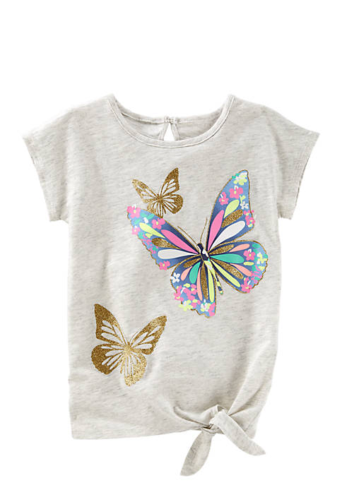 OshKosh B'gosh® Toddler Girls Glitter Butterfly Tunic