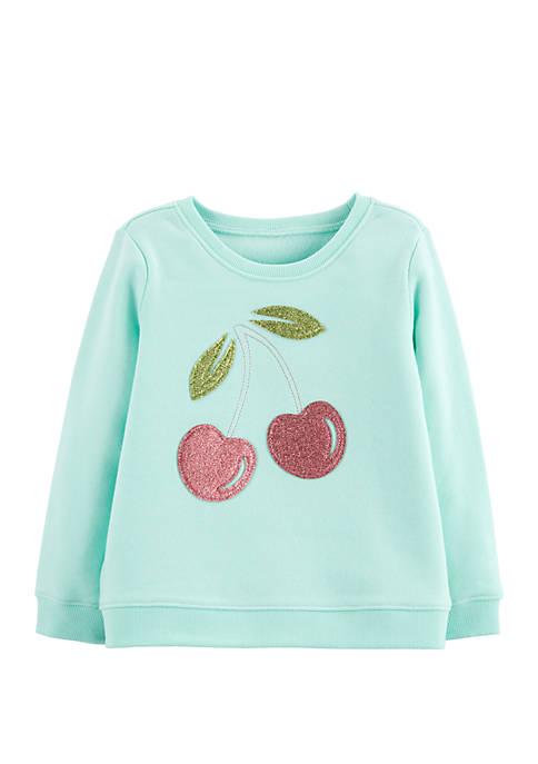 OshKosh B'gosh® Toddler Girls Glitter Cherry Pullover
