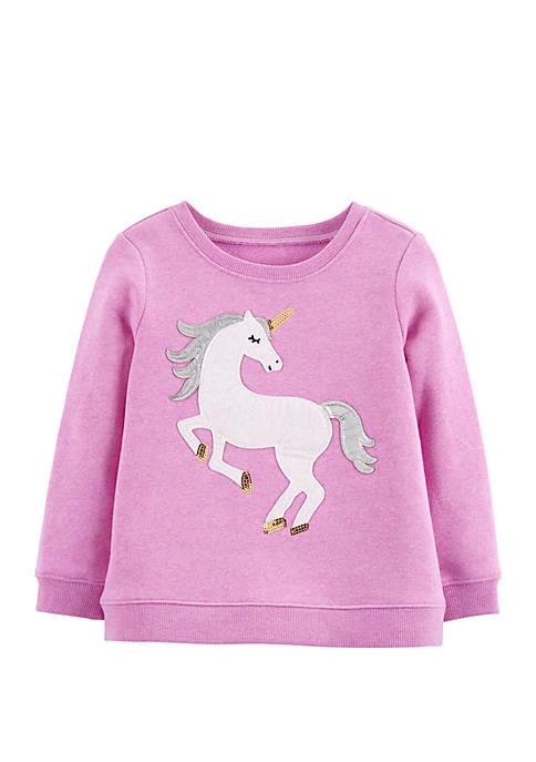 OshKosh B'gosh® Toddler Girls Sequin Unicorn Pullover