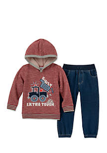 Baby Boys Terry Construction Hoodie Set