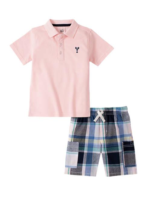 Kids Headquarters Boys 8-20 2 Piece Polo Shirt