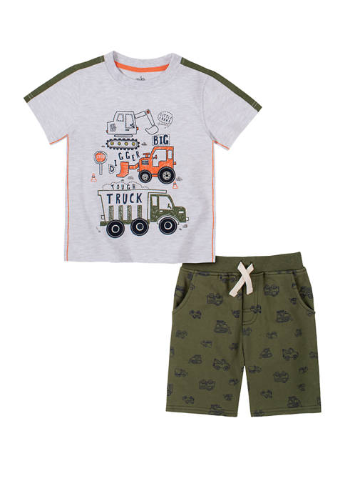 Kids Headquarters Toddler Boys French Terry T-Shirt Set
