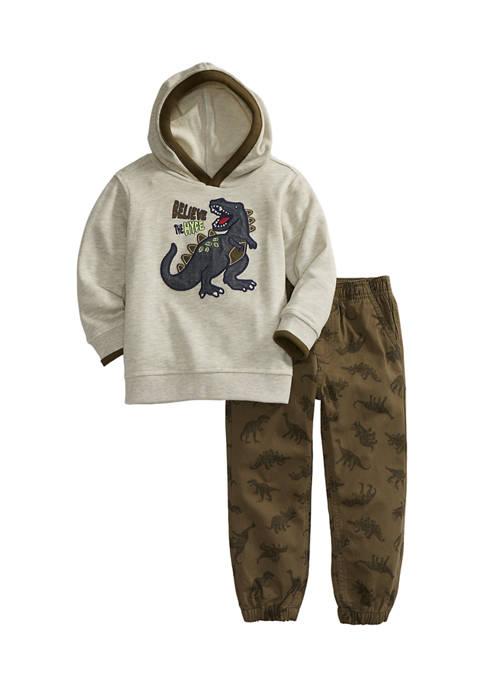 Kids Headquarters Toddler Boys Dino Hoodie Set