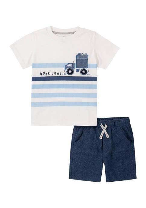Kids Headquarters Toddler Boys Short Sleeve Graphic T-Shirt
