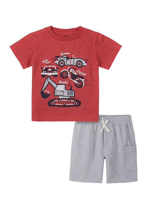 Kids Headquarters Baby Boys Short Sleeve Graphic T-Shirt