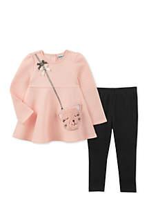 Baby Girls Pink Purse Set