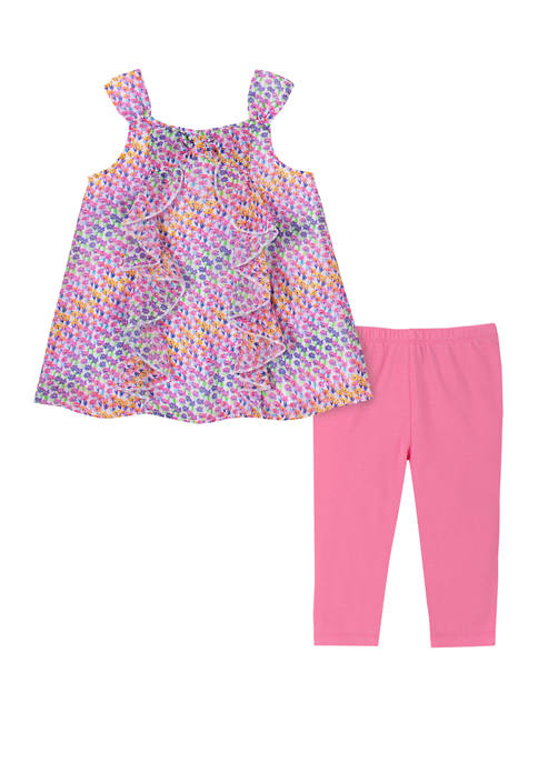 Kids Headquarters Toddler Girls 2 Piece Bow Top