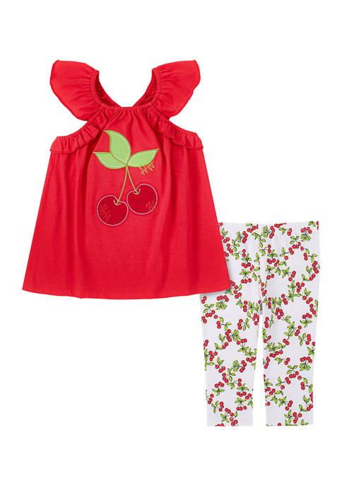 Kids Headquarters Toddler Girls Cherry Tank and Legging