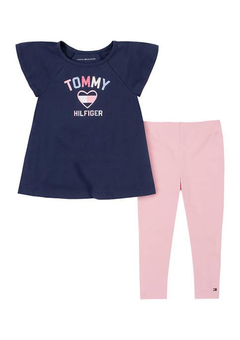 Toddler Girls Heart Shirt and Leggings Set