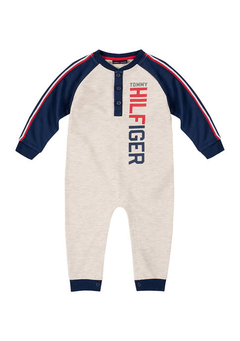 Kids Headquarters Baby Boys Colorblocked French Terry Coveralls