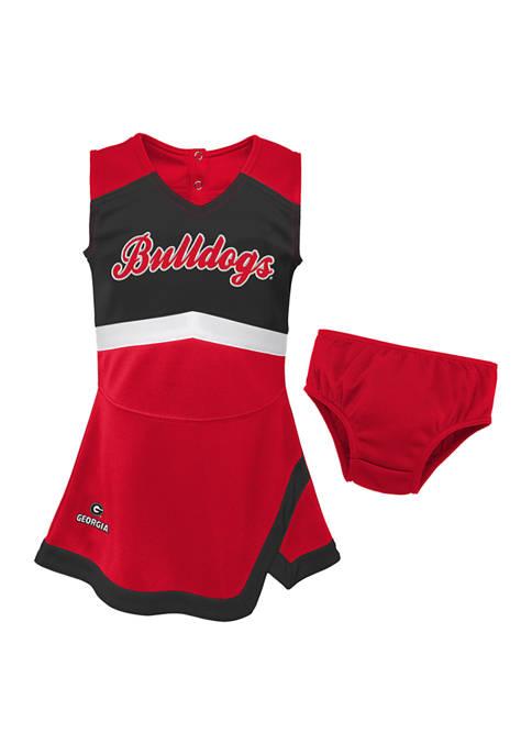 Baby Girls NCAA Georgia Bulldogs Cheer Dress
