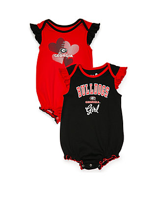 brand new 1740d 208d7 NCAA Georgia Bulldogs Infant 9-12 Creeper Set