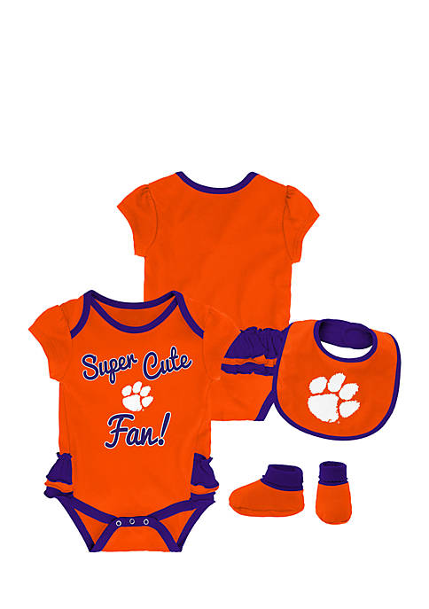 Gen2 Baby Girl Clemson University Bodysuit Set