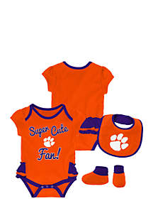 Baby Girl Clemson University Bodysuit Set