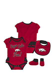 Infant Girls Arkansas Razorbacks 3-Piece Set