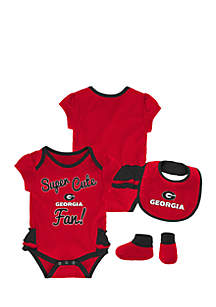 Baby Girl University of Georgia Bodysuit Set