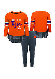 Baby Girls Clemson Tigers Long Sleeve Top and Legging Set