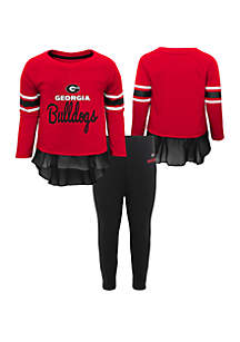 Baby Girls UGA Bulldogs Long Sleeve Top and Legging Set