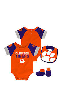 Baby Boy Clemson University Bodysuit Set