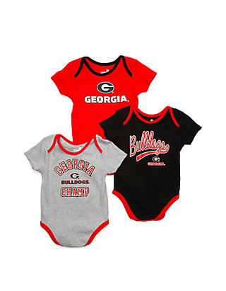 the latest 6a177 26938 Baby NCAA Georgia Bulldogs 3 Piece Creeper Set