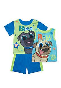 Disney® Junior™ Toddler Boys Puppy Dog Pals 3 Piece Pajama Set