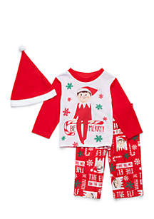 Toddler Kids Elf on the Shelf Pajama Set