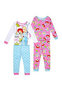 Disney® Pixar™ Toy Story Toddler Girls Toy Story 4 Piece Pajama Set